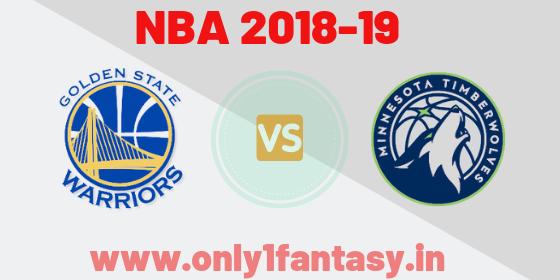NBA: GSW vs MIN
